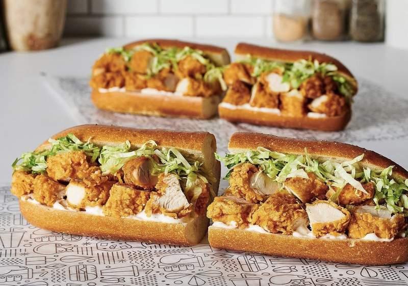 The Publix Chicken Tender Sub sandwich.