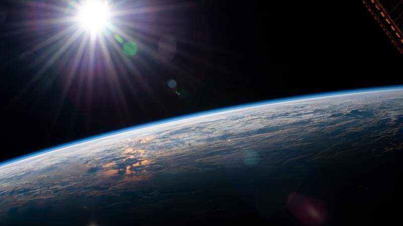 Earth as seen from space. (Image: NASA)