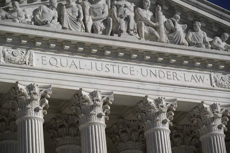 FILE - In this Nov. 4, 2020 file photo, the Supreme Court is seen in Washington.  (AP Photo/J. Scott Applewhite, File)