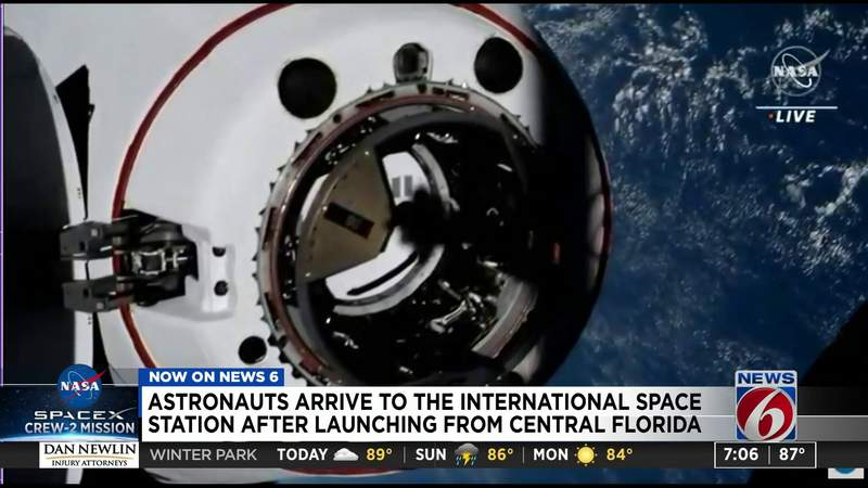 Astronauts arrive to the ISS after launching from Central Florida