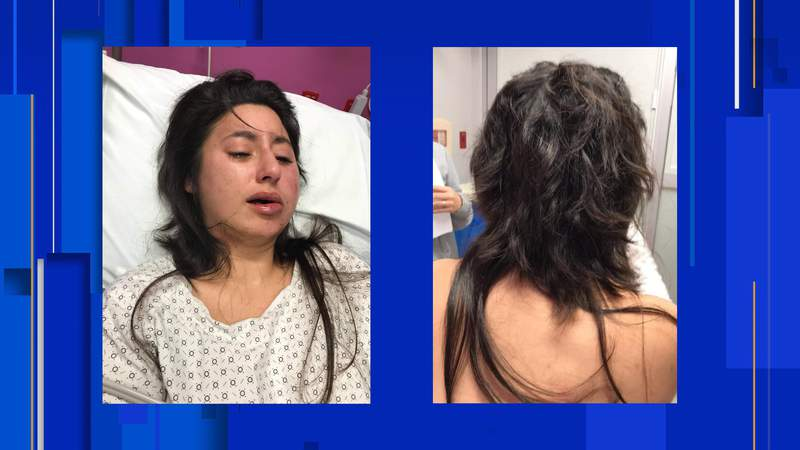 Lashelle Jacobs says attackers beat her and cut her hair.