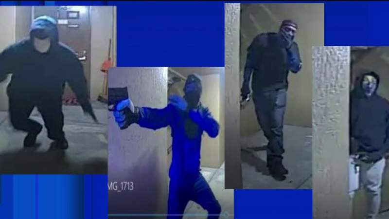 4 masked men kick down Orlando apartment door during armed robbery