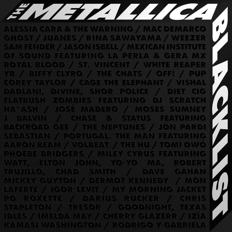 """This cover image released by Rhino/Blackened Recordings shows """"The Metallica Blacklist, performed by various artists. (Rhino/Blackened Recordings via AP)"""