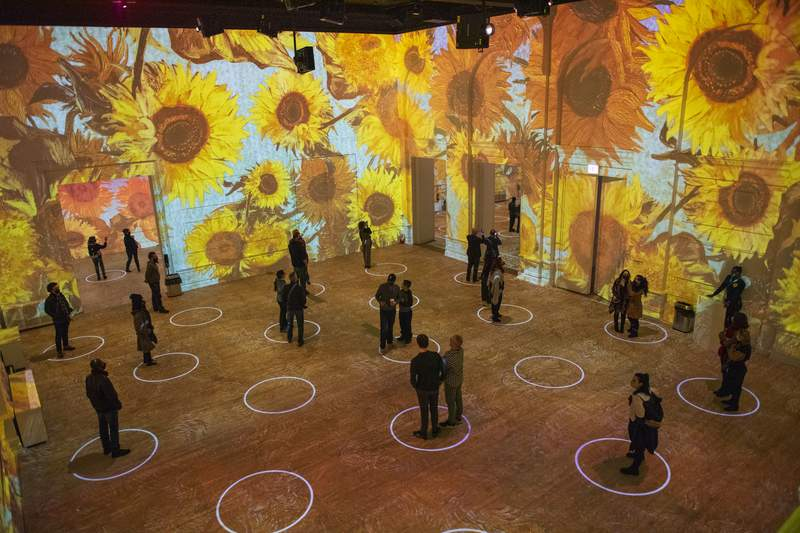 The Vincent van Gogh interactive exhibit during a stop in Chicago.