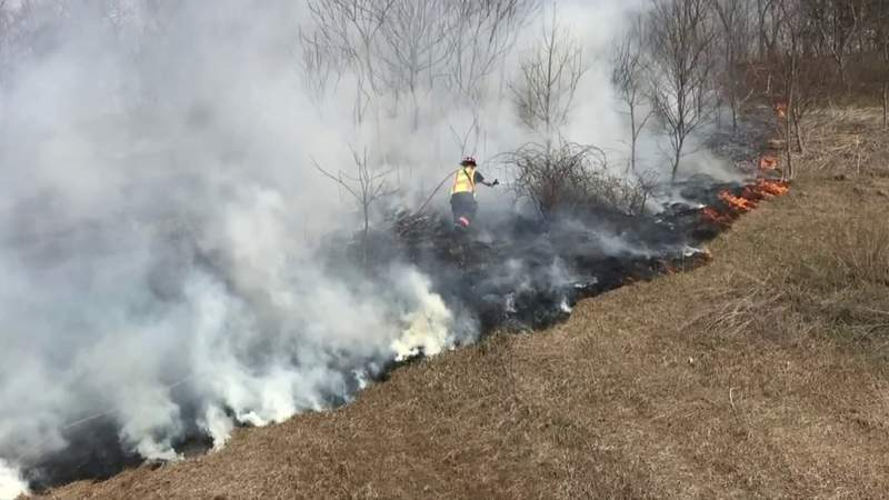 Risk of brush fires amid dry conditions