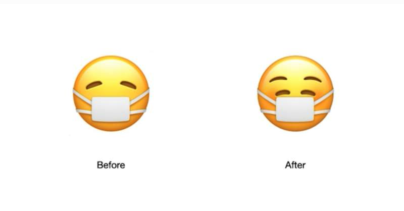 Apple's new mask emoji