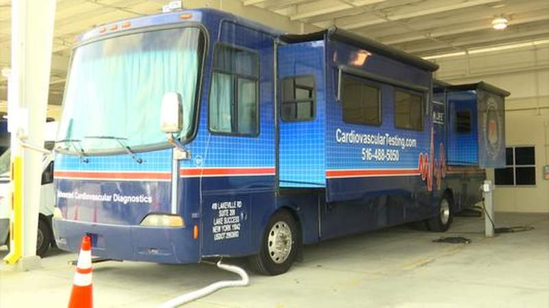 Heart buses travel from New York to Orange County to provide life-saving cardiology tests to deputies