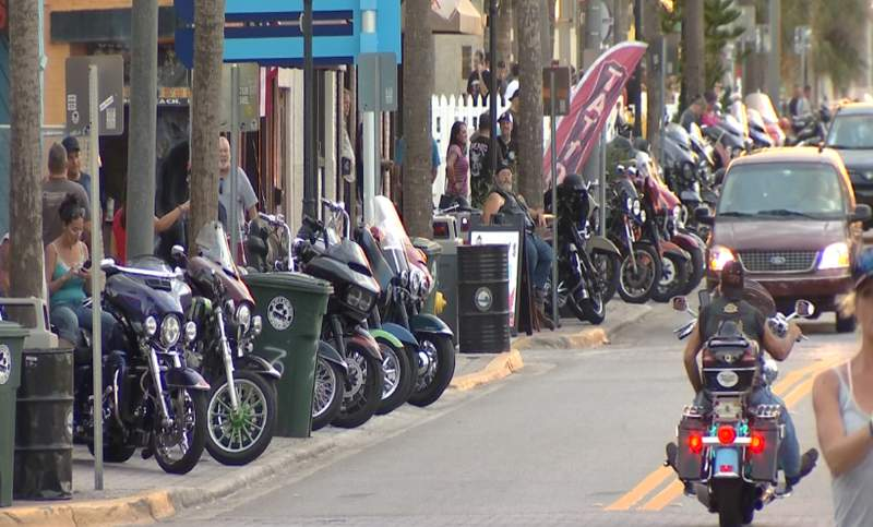Biketoberfest is set to begin on Thursday and Main Street in Daytona Beach has started to pick up with traffic.