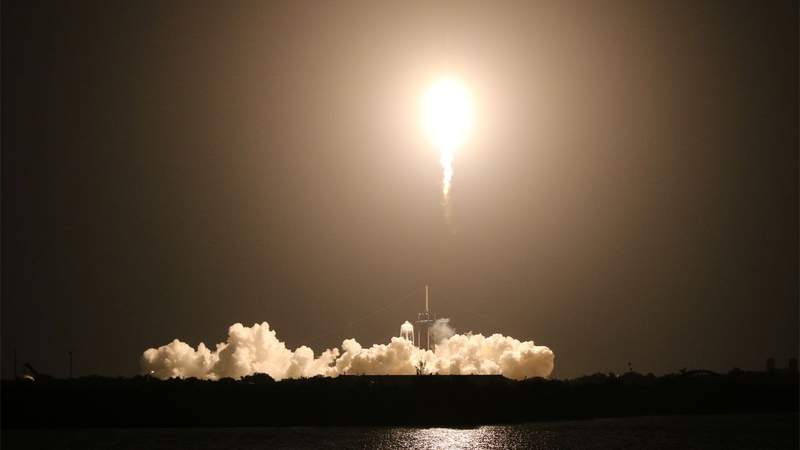 Liftoff! NASA, SpaceX launch astronauts into space