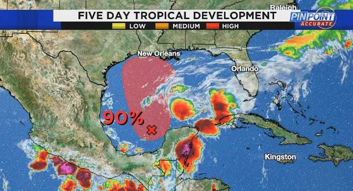 Tropical development next five days