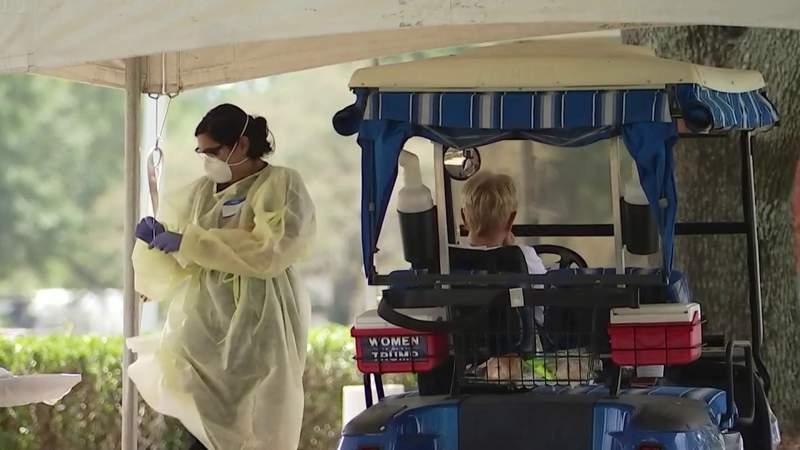 Golf cart drive-thru coronavirus testing site opens in The Villages