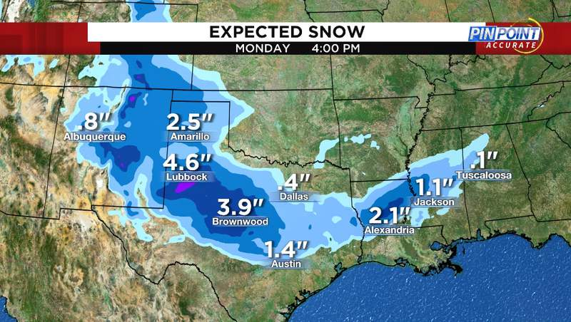 Expected snow