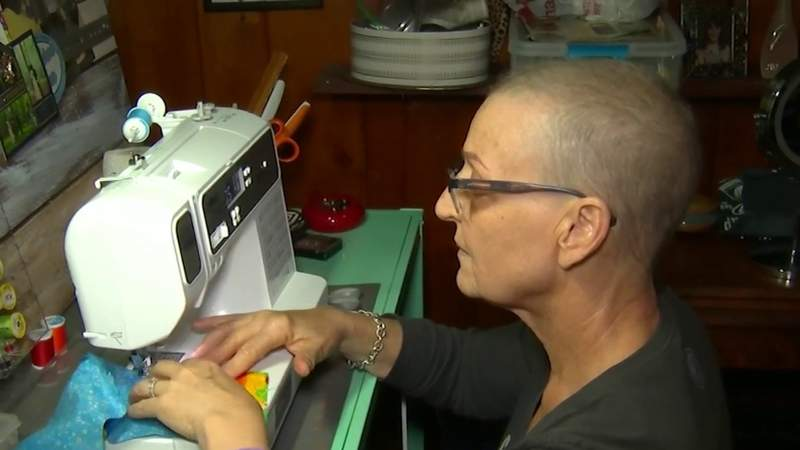 Orlando cancer patient makes coronavirus masks for at-risk groups