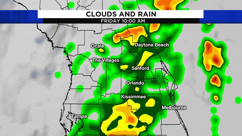 New front brings rain to Central Florida