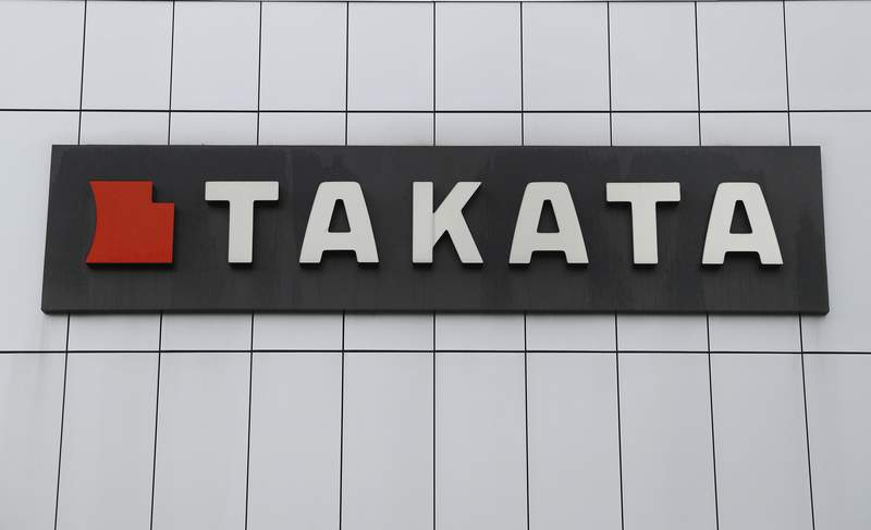 """This Sunday, June 25, 2017, photo shows TK Holdings Inc. headquarters in Auburn Hills, Mich. The U.S. governments highway safety regulator has opened an investigation into a potential problem that surfaced last year with 56 million Takata airbags, but that the agency eventually deemed safe based on industry research. The National Highway Traffic Safety Administration has not posted an official document on the investigation yet, but said that it wasnt aware of any injuries or fatalities due to the problem and that """"the public does not need to take any action. The NHTSA said it would publish an official report on the investigation later Monday, Sept. 20, 2021.  (AP Photo/Paul Sancya)"""