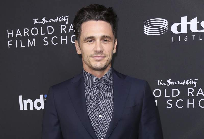 FILE - James Franco arrives at IndieWire Honors on Nov. 2, 2017, in Los Angeles. Franco and his co-defendants have agreed to pay $2.2 million to settle a lawsuit alleging he intimidated students at an acting and film school he founded into gratuitous and exploitative sexual situations. The sides reached an agreement in February, but the details and dollar amount were not revealed until Wednesday, June 30 2021. (Photo by Willy Sanjuan/Invision/AP)