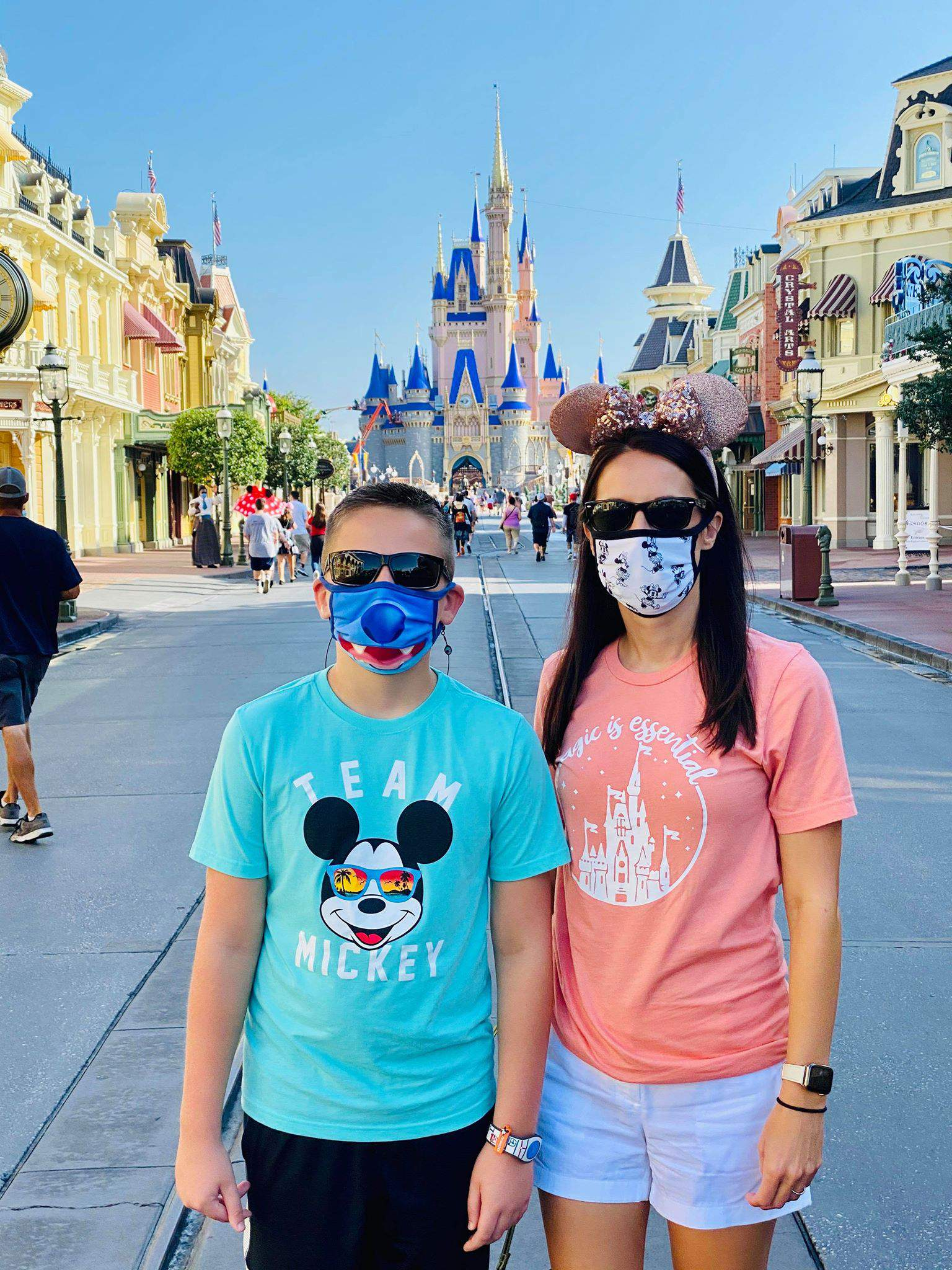 The Smith Family at Disney on July 9, 2020. (Image credit: Dewayne Smith)