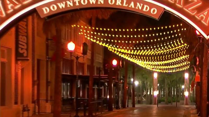 Streets of downtown Orlando empty as Fourth of July weekend begins