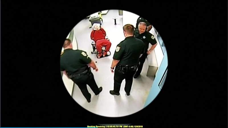 Gregory Edwards seen in video provided by the Brevard County Sheriff's Office.