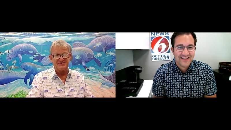 News 6 speaks with Guy Harvey ahead of SeaWorld event