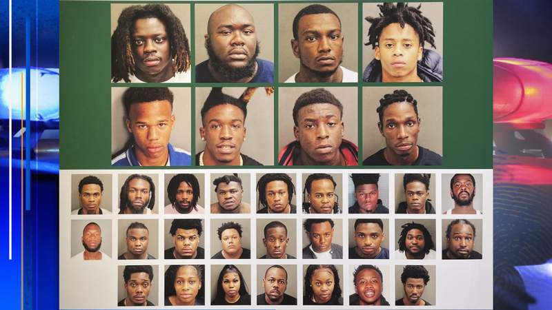 Photos of some of the people arrested and some still wanted following Operation X-Force