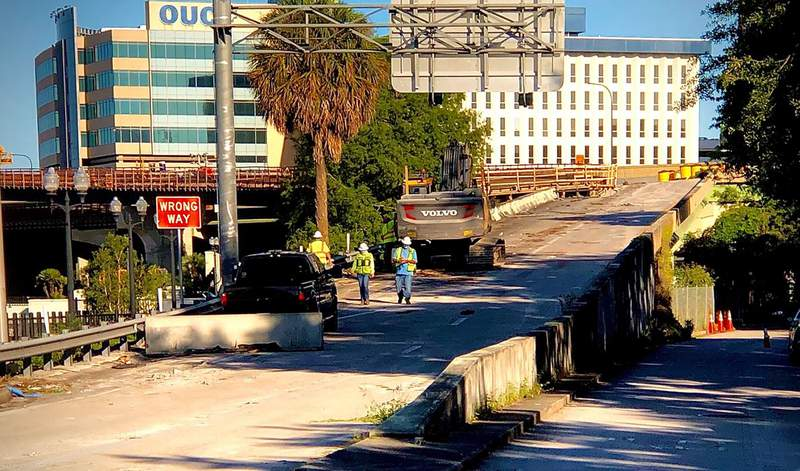 A State Road 408 ramp closes in Orlando.