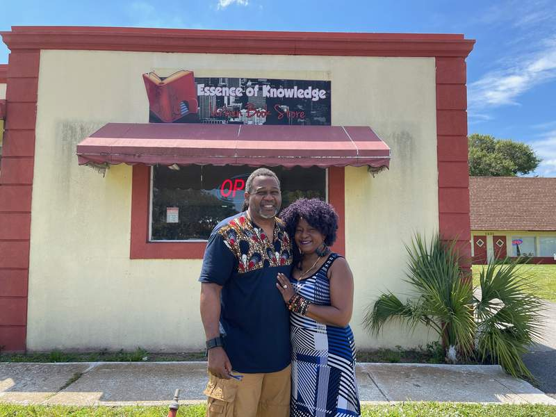 Nathaniel Davis and Michelle Davis, owners of Essence of Knowledge urban bookstore