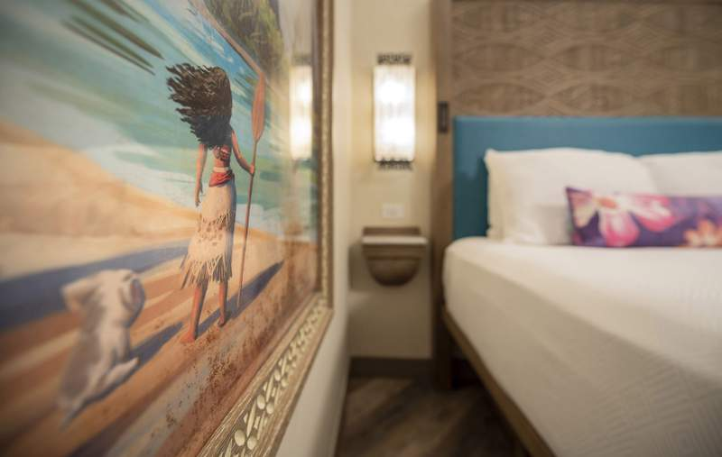 Reimagined guest rooms inside Disney's Polynesian Village Resort at Walt Disney World Resort in Lake Buena Vista, Fla.