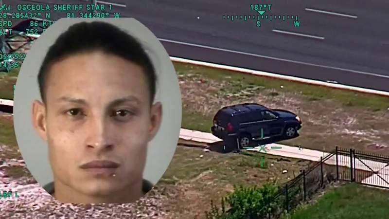 Video shows suspected burglar crash SUV after fleeing from Osceola deputies