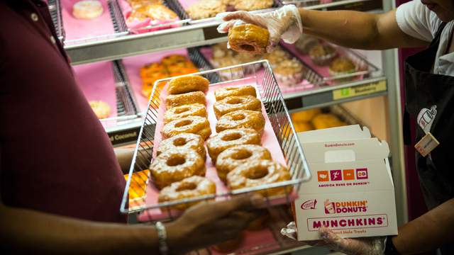 Dunkin' Donuts, the Massachusetts-based coffee and doughnut shop, finished in a three-way tie for sixth place with 80 points.