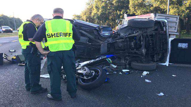 Motorcyclist, 22, dies after crashing into SUV, Polk County deputies say. (Image: Polk County Sheriff's Office)