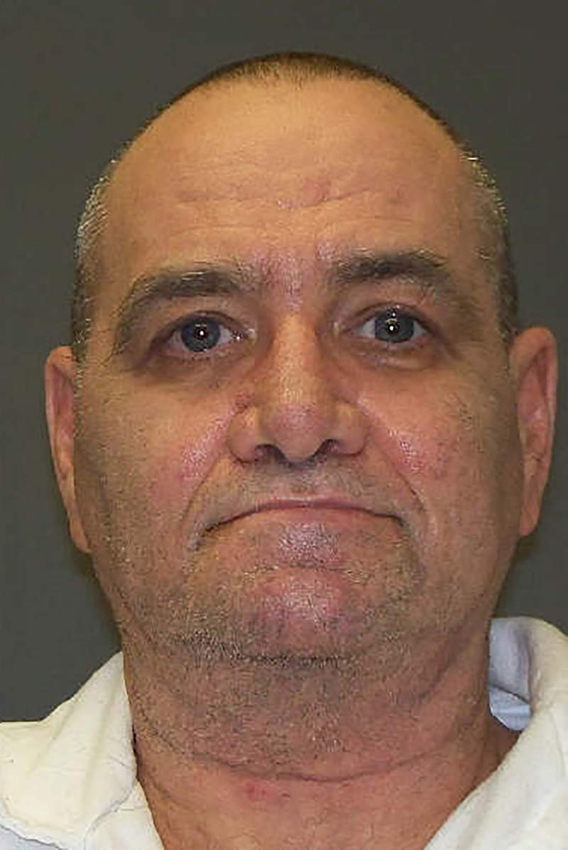 This undated photo provided by the Texas Department of Criminal Justice shows John Gardner. Gardner a Texas inmate with a history of violence against women faces execution for fatally shooting his wife, who had repeatedly told friends and family she would never get out of her marriage alive. Gardner is set to receive a lethal injection Wednesday Jan. 15, 2019 for the January 2005 slaying of Tammy Gardner.(Texas Department of Criminal Justice via AP)