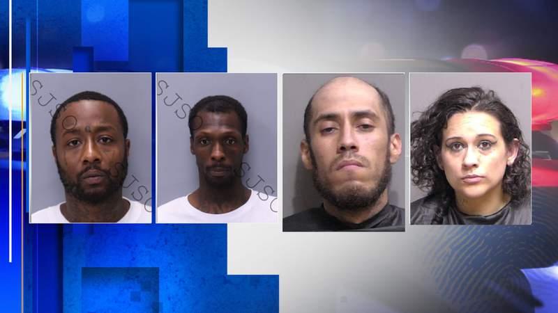 Deryl Bush, David Green, Shawn Paul Vasquez, Heidi Tindol (Images: Flagler County Sheriff's Office)