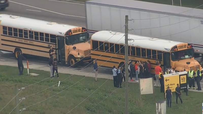 Officials say two school buses were involved in a crash in Osceola County.