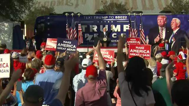 Vice President Mike Pence holds a campaign rally Saturday.