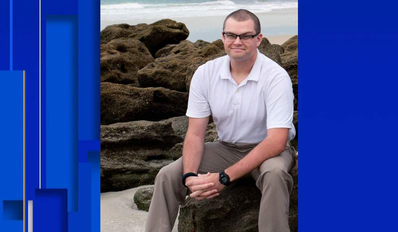 A family member provided this picture of Daytona Beach police officer Jason Raynor, who was shot in the head on June 23, 2021.