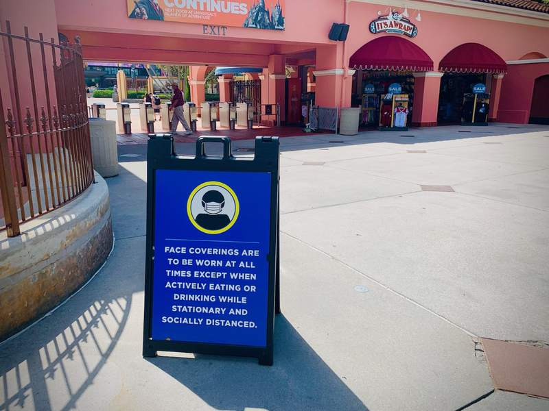 Health and Safety sign at Universal Orlando