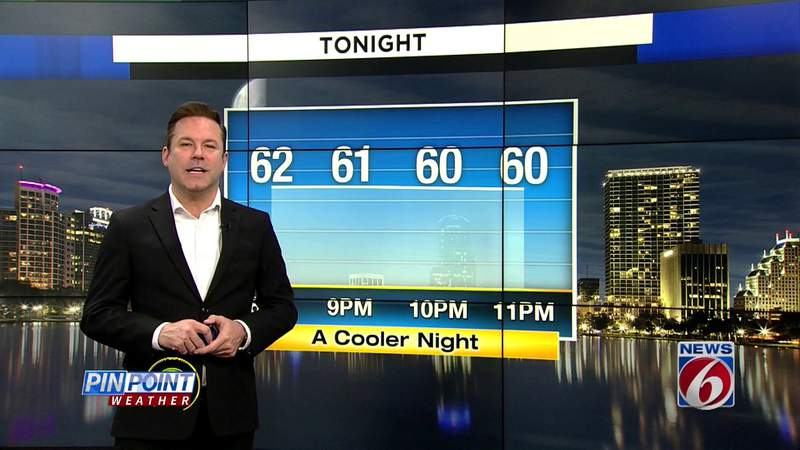 Front brings cooler temps to Central Florida