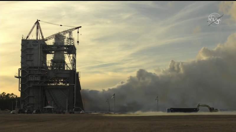 VIDEO: NASA RS-25 rocket engine test