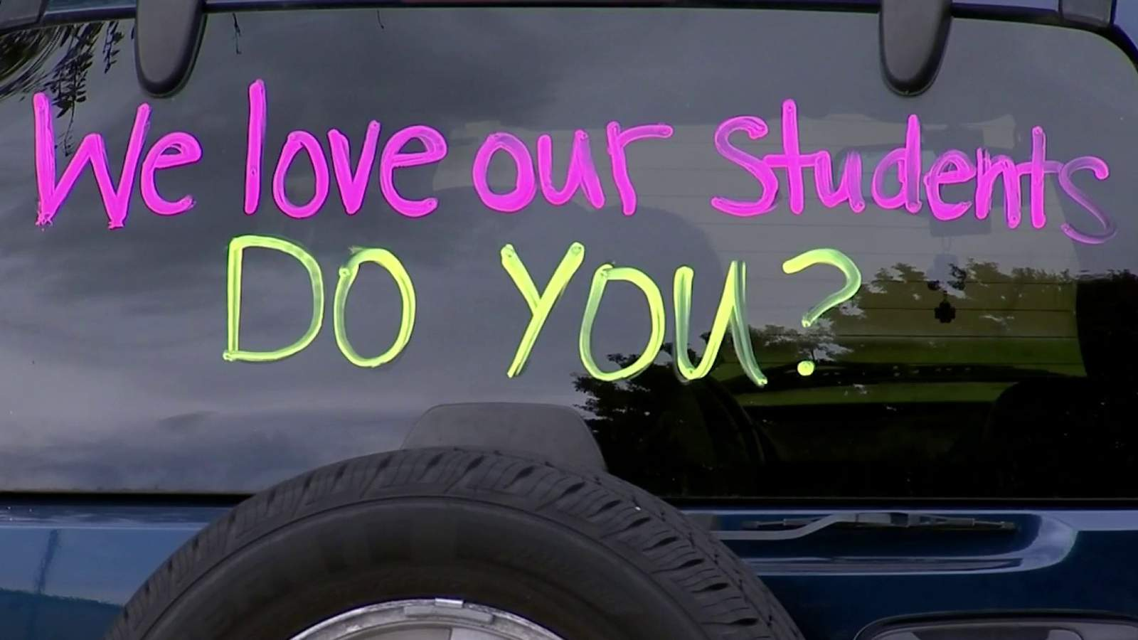 Osceola County teachers raise their voices in drive-by protest