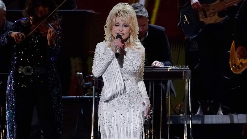Dolly Parton performs onstage at the 53rd annual CMA Awards at the Bridgestone Arena on November 13, 2019 in Nashville, Tennessee. (Photo by Mickey Bernal/WireImage)