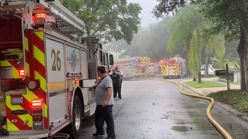 Home on Admiral Point caught on fire at about 3 p.m.