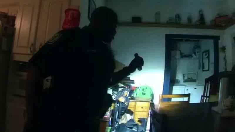 Body camera video: Man hid from deputies in dryer