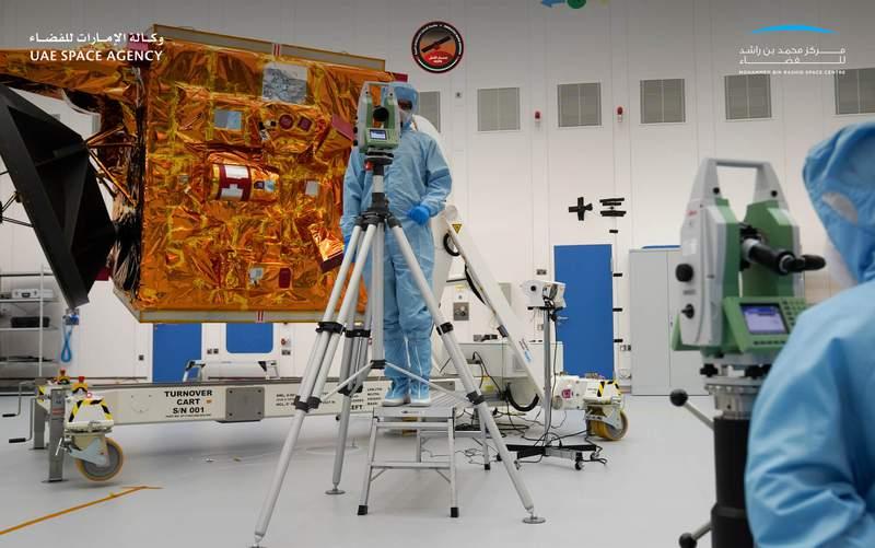 The UAE Amal spacecraft. (Image: UAE Space Agency)