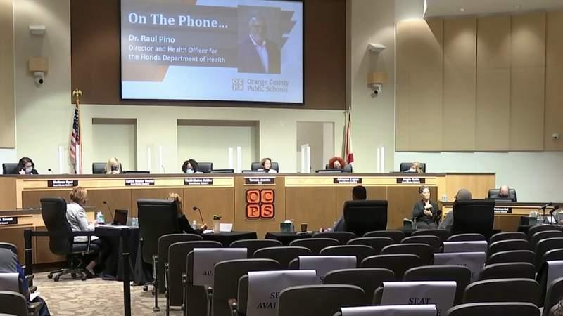Orange County Public Schools officials discuss mask mandate