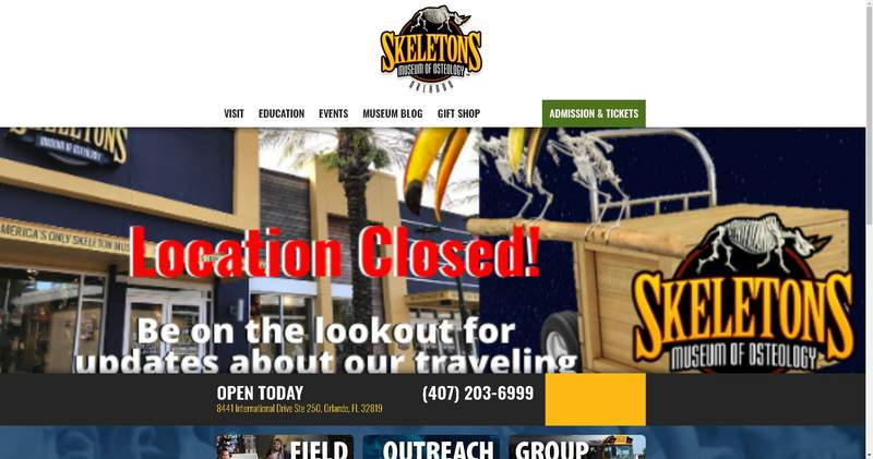 Skeletons museum closes at Icon Park