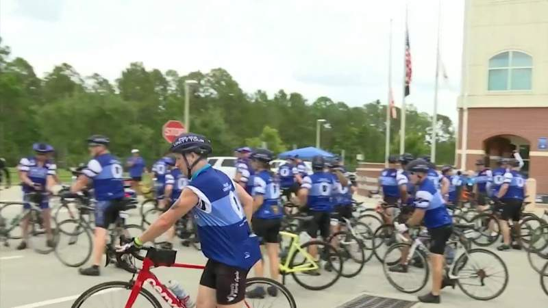 National police unity cycling tour makes stop in Daytona Beach