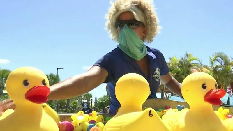 Water park hosts rubber duck race to help fight homelessness in Central Florida