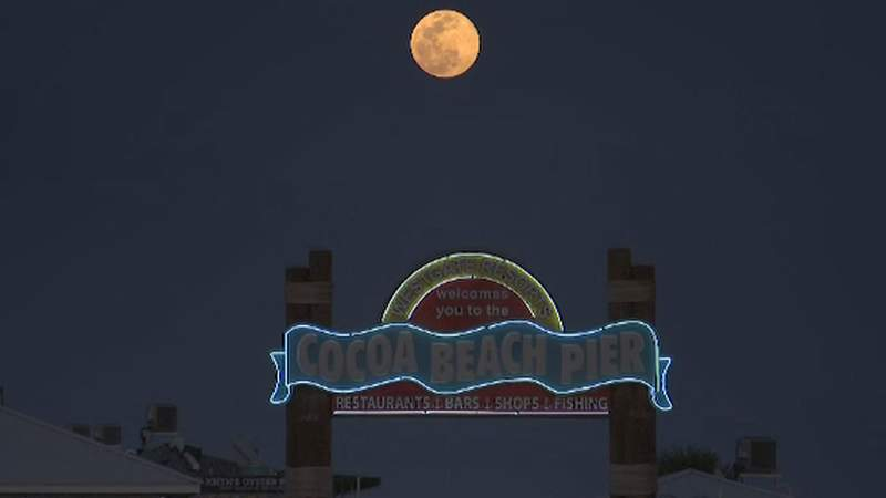 The Supermoon appeared in the sky on Tuesday night.