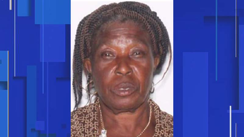 Police said Eliane Pageste suffers from Alzheimer's and dementia. Investigators said she was last seen at the Apopka Post Office on Park Avenue around 5 p.m. on Monday.
